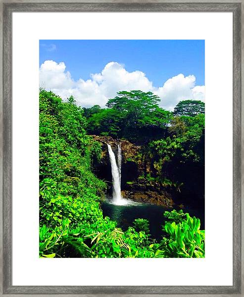 Rainbow Falls Hilo Hawaii Framed Print