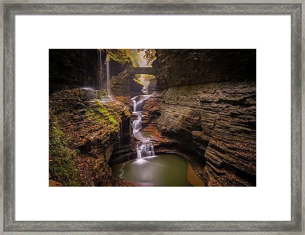 Rainbow Falls Framed Print by Michael Donahue