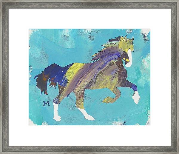 Framed Print featuring the painting Rainbow Horse by Candace Shrope