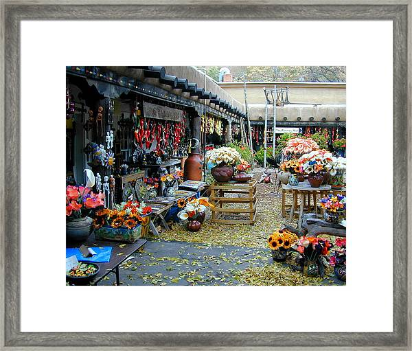 Framed Print featuring the photograph Rainbow Man Courtyart by Joseph R Luciano