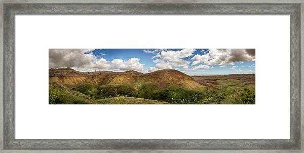 Rainbow Mountain Framed Print