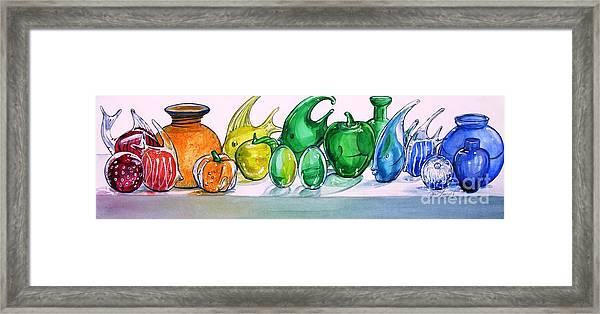 Rainbow Of Glass Framed Print