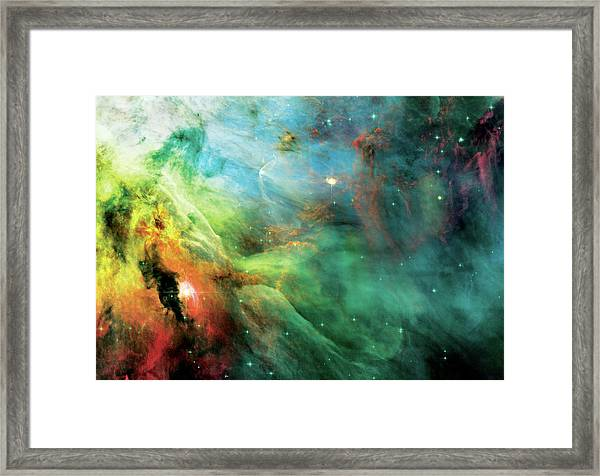 Rainbow Orion Nebula Framed Print