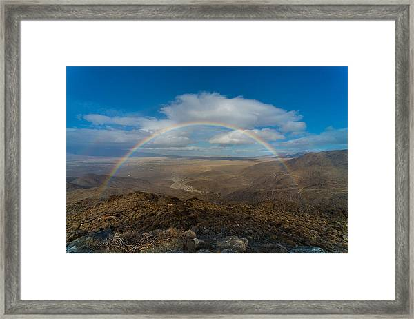 Rainbow Over Borrego Springs Framed Print
