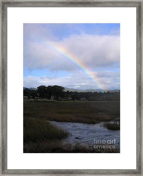 Rainbow Over Carmel Wetlands Framed Print