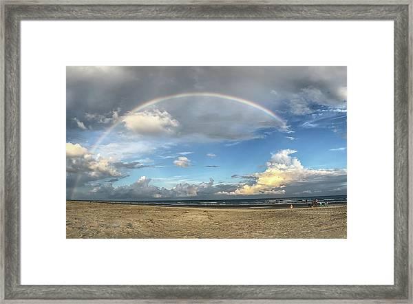 Rainbow Over Ocean Framed Print