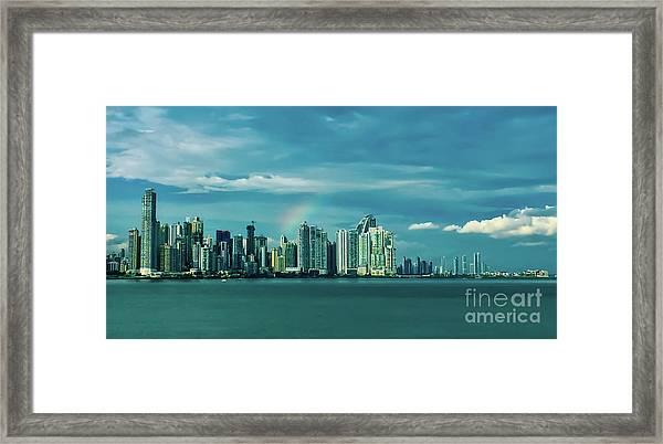 Rainbow Over Panama City Framed Print
