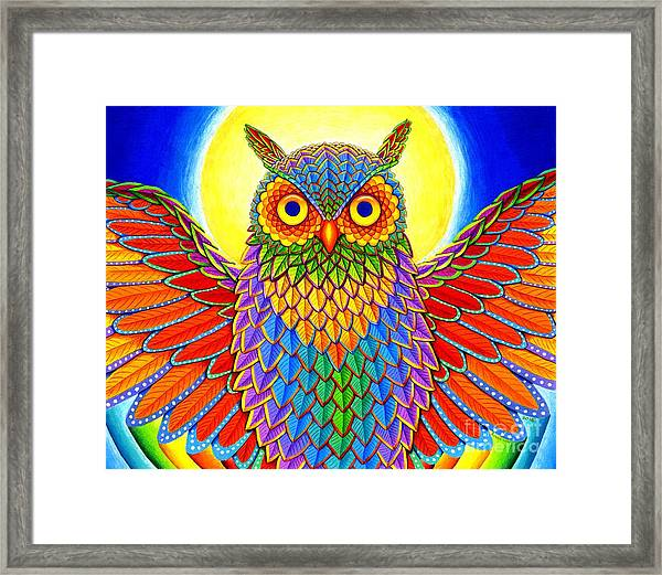 Rainbow Owl Framed Print
