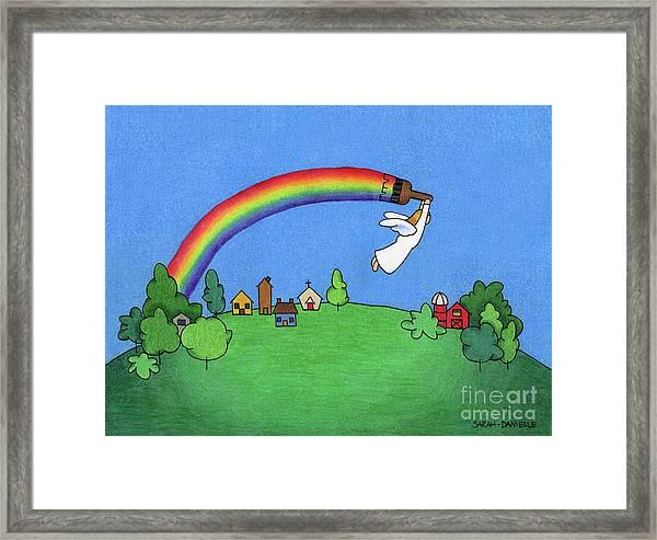 Rainbow Painter Framed Print