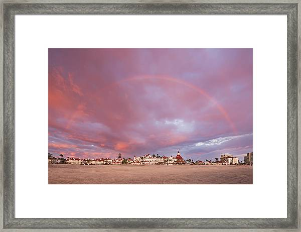 Rainbow Proposal Framed Print