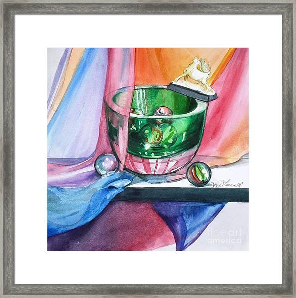 Rainbow Raindeer Framed Print
