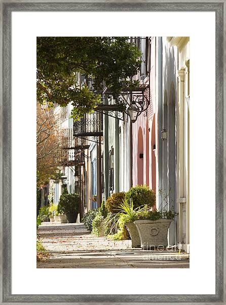 Rainbow Row Charleston Sc 2 Framed Print