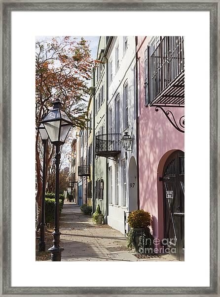 Rainbow Row Charleston Sc 3 Framed Print