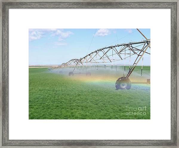 Rainbow Under The Pivot Framed Print