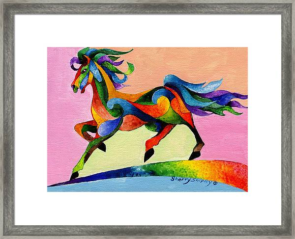 Rainbow Wind Framed Print