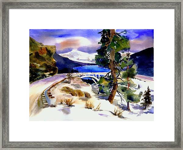 Rainbowbridge Above Donner Lake Framed Print
