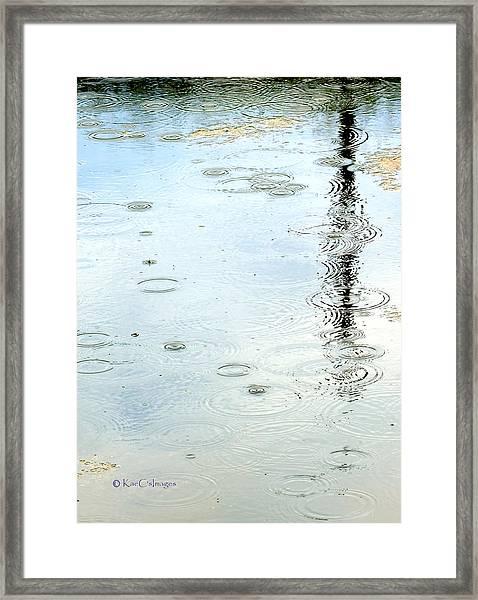 Raindrop Abstract Framed Print