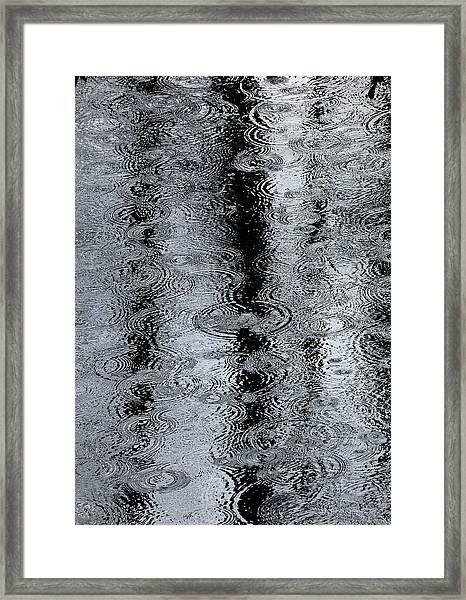Raindrops On A Pond Framed Print