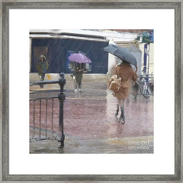 Raining All Around Framed Print