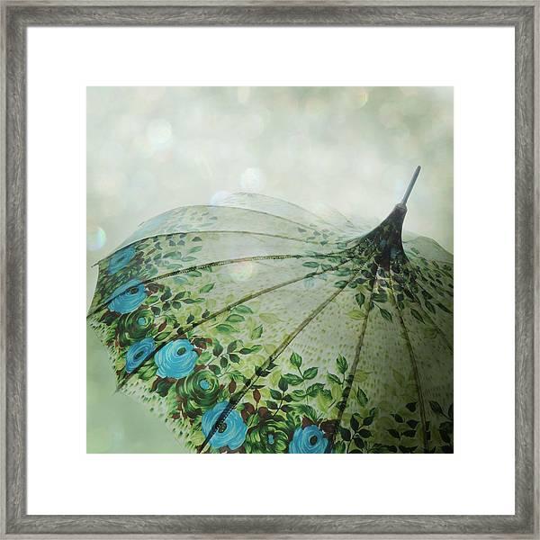 Raining Bokeh Framed Print