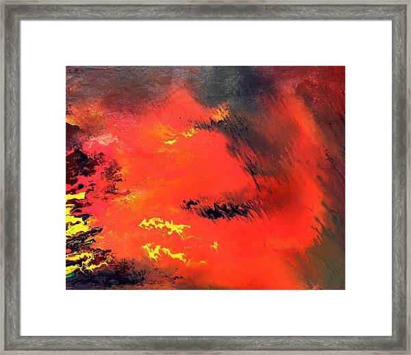 Raining Fire Framed Print