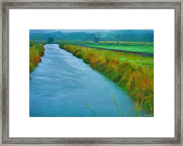 Rainy Canal Framed Print