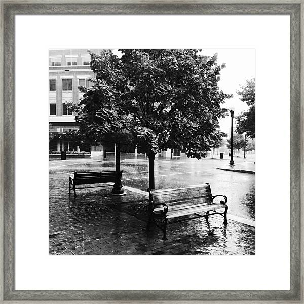 Rainy Day - A Moody Black And White Photograph Framed Print