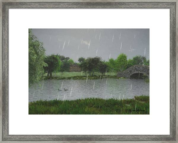 Rainy Day At The Lake Framed Print