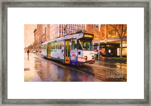 Rainy Day Melbourne Framed Print