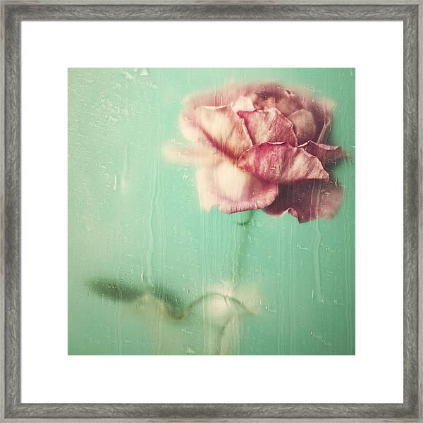 Rainy Day Romance Framed Print