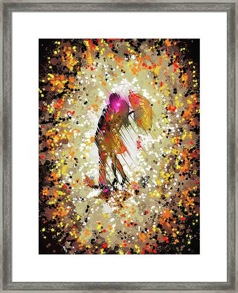 Rainy Love Framed Print