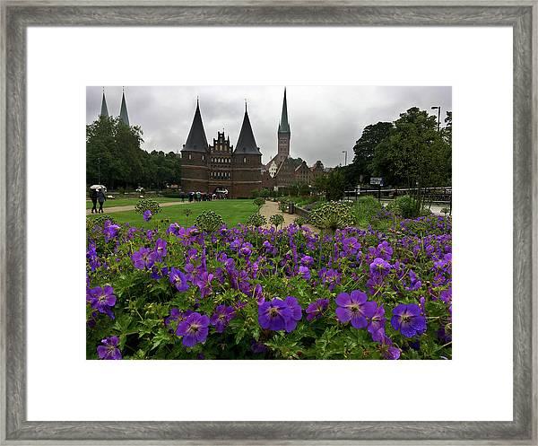 Rainy Luebeck Is Beautiful Framed Print