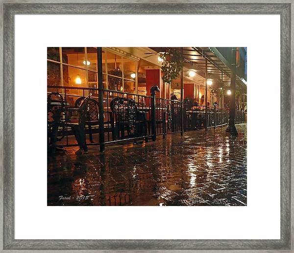 Rainy Night In Gainesville Framed Print
