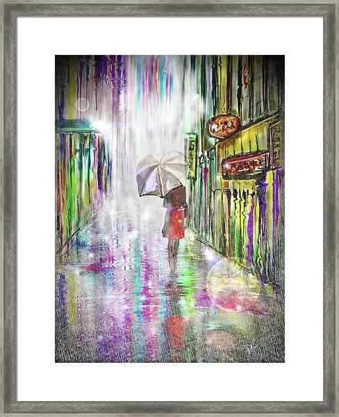 Rainy Paris Day Framed Print
