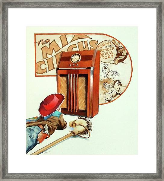 Raised On The Radio 2 Framed Print