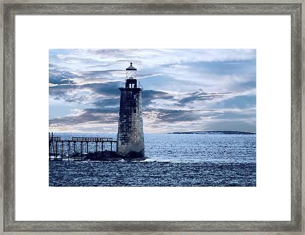 Ram Island Head Lighthouse.jpg Framed Print