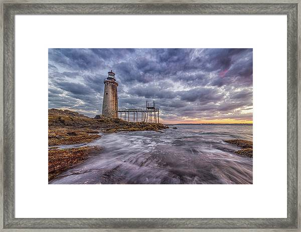 Ram Island Ledges Framed Print
