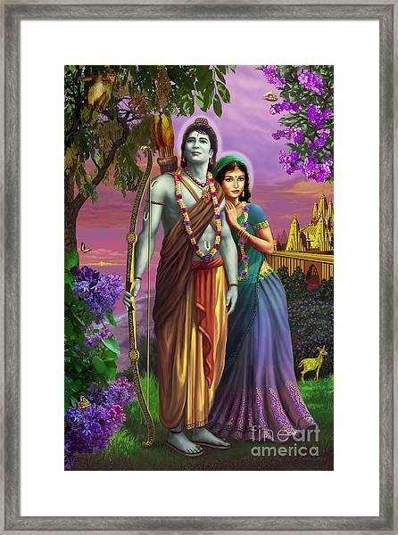 Rama And Sita  Framed Print