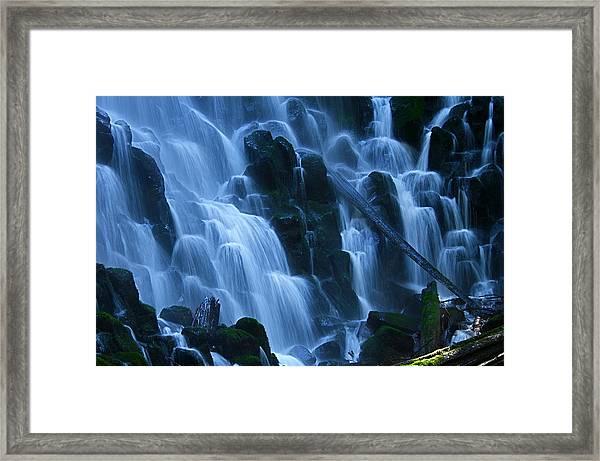 Ramona Falls In Close Framed Print