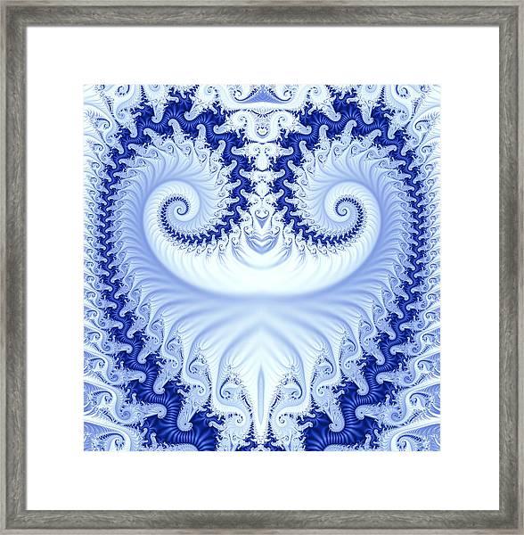 Ram's Horn Blue Framed Print