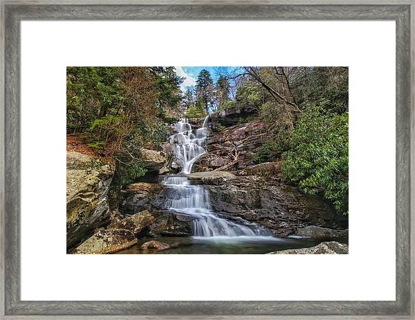 Ramsey Cascades - Tennessee Waterfall Framed Print