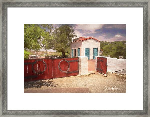 Ranch Family Homestead Framed Print