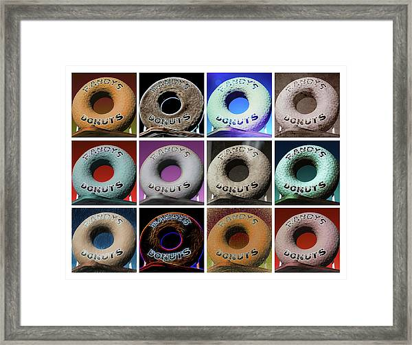 Randy's Donuts - Dozen Assorted Framed Print
