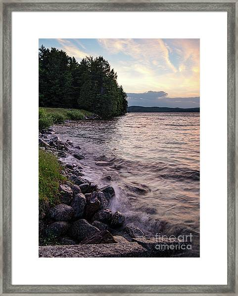 Rangeley Lake State Park In Rangeley Maine  -53215-53218 Framed Print