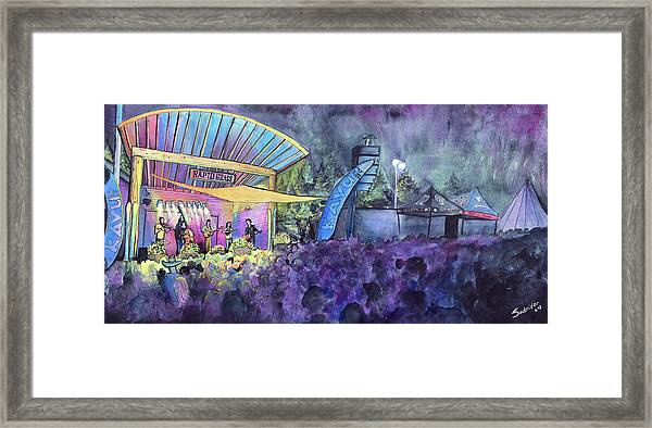 Rapid Grass Playing Clear Creek Rapidgrass Bluegrass Festival Framed Print