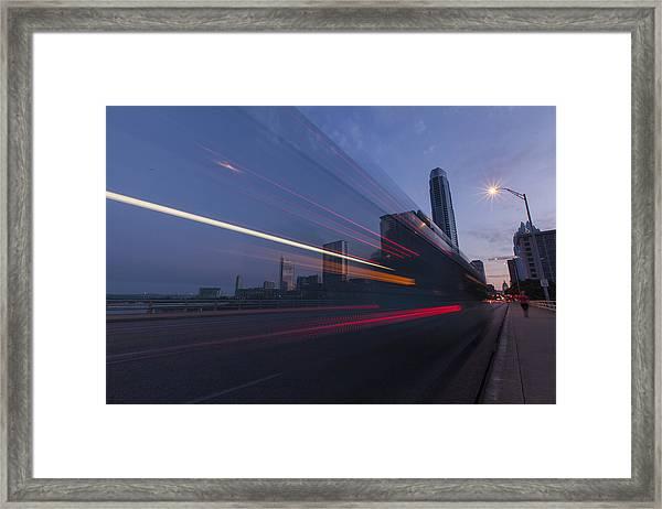 Rapid Transit Framed Print