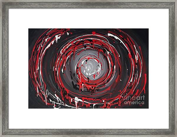 Raspberry Swirls Framed Print