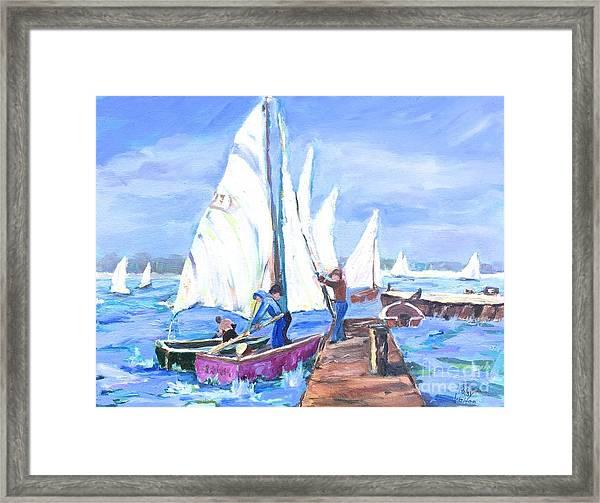 Rather Be Sailing Framed Print