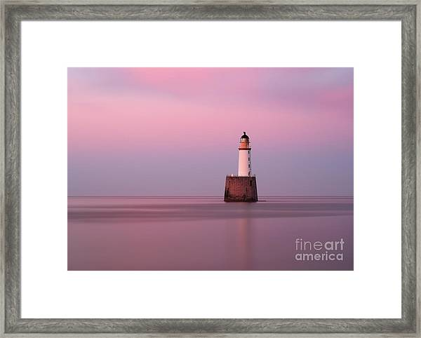 Rattray Head Lighthouse At Sunset - Pink Sunset Framed Print