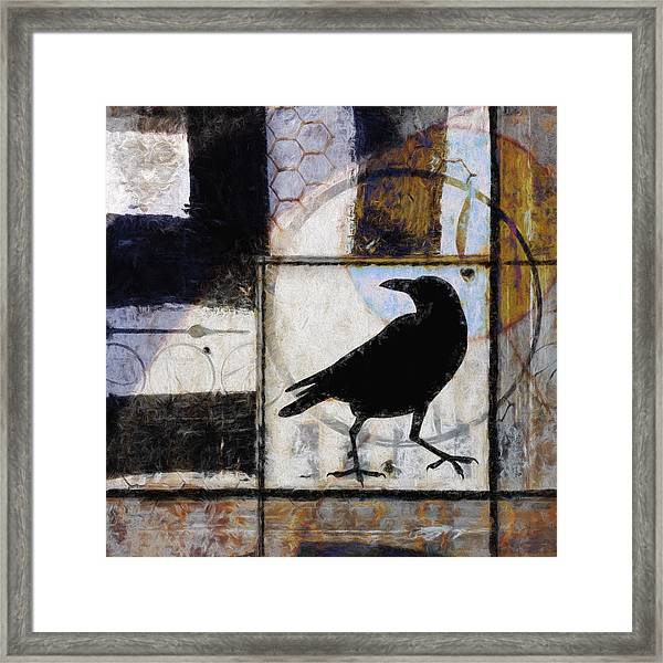 Raven Ahead Of Time Framed Print